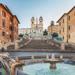 Spanish Steps, one of the Roman Square of the tour with Rome 4 kids
